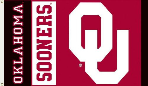 NCAA Oklahoma Sooners 3-by-5 Foot Flag with Grommets