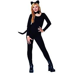 Disfraz Cultura de la Mujer Gato Kit, Color Negro, Talla Una Talla