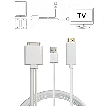 Amazon Hdmi Cable for iPhone to TV YCD 6ft 30PIN Dock to