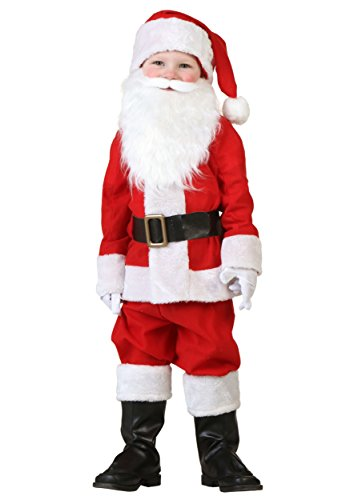 Toddler Santa Costume 4T Red