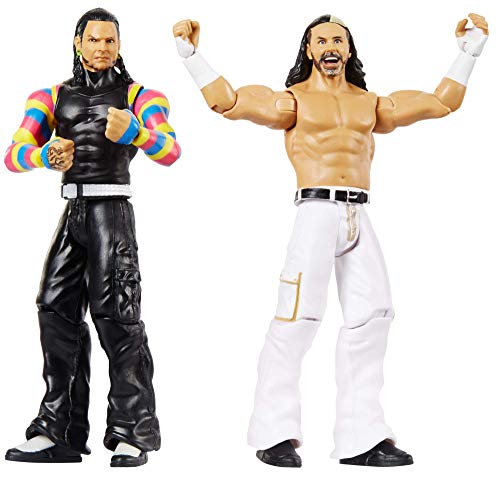 Mattel WWE The Hardy Boyz, 2 Pack, Multicolor (Renewed)