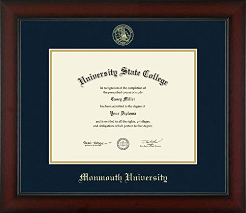 Monmouth University - Officially Licensed - Gold Embossed Diploma Frame - Diploma Size 11