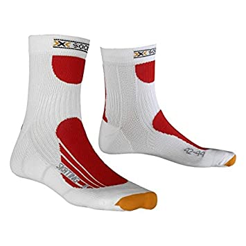 X-Socks Skating Pro Calcetines 2018 White/Red, Unisex, 35-38