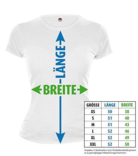 Girlie T-Shirt Realität-Ponyhof Wegweiser-M-White-Brown