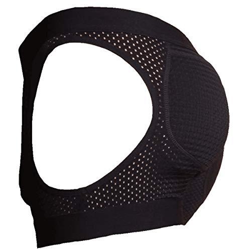 ButtboosterLLC.com Hipster Men's Padded Butt Lifting Breathable Mesh Enhancing Underwear (Medium, Black)