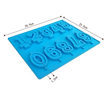 De silicona moldes números grandes forma de DIY de silicona Chocolate molde de horno para modelos de herramientas: Amazon.es: Hogar