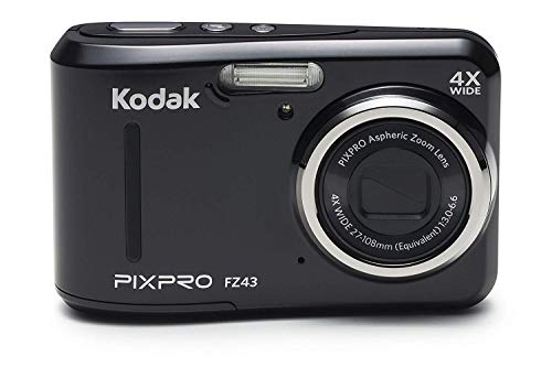 Kodak PIXPRO Friendly Zoom FZ43-BK 16MP Digital Camera with 4X Optical Zoom and 2.7″ LCD Screen (Black)