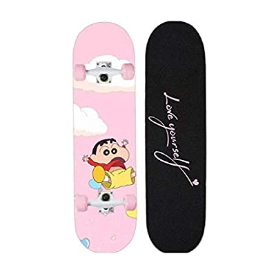 Aniseed Skateboards Cruiser Longboard Deck Skateboard Complete 31 Inch Crayon Shinchan : Sports & Outdoors