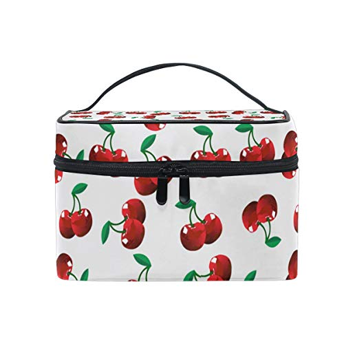 (A Lot Of Small Cherries Travel Toiletry Bag Cosmetic Organizer for Large Portable Bathroom Accessories Kit)