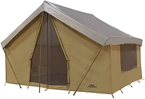 Trek Tents 245C Cavas Cabin 9 x 12 Heavy Duty Cotton Camping 7 Person Tent w Fly Cover