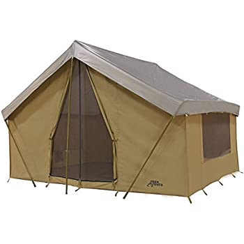 Trek Tents 245C Cavas Cabin 9' x 12' Heavy Duty Cotton Camping 7 Person Tent w/ Fly Cover