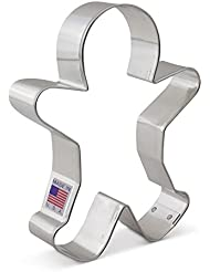 Happy Gingerbread Man Cookie Cutter - Ann Clark - 5 Inches - US Tin Plated Steel