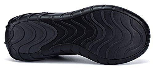Soulsfeng Men Women Unisex Casual Fashion Sneakers Glow in Dark Running Shoes (Men US8.5=EUR42=26.5CM, Black (Fabric Lining))