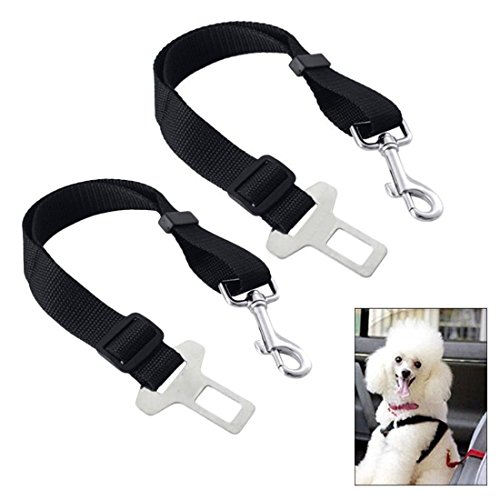 DANSPEED Pet Dog Seat Belt (2 Packs)