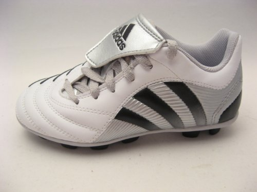 adidas Little Kids Predito TRX HG J Soccer Cleats White Blac