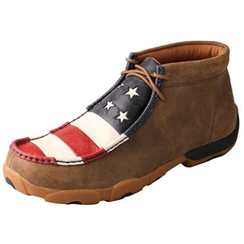 Twisted X Men's Distressed Grain Driving Mocs