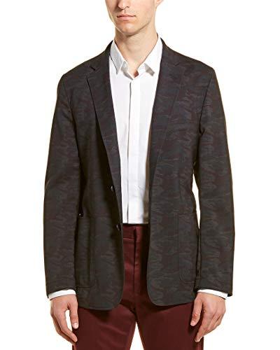 Hickey Freeman Mens Wool Sport Coat, 44, Grey