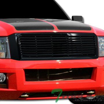 (Topline Autopart Glossy Black Horizontal Front Hood Bumper Grill Grille ABS For 07-14 Ford Expedition)