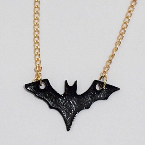 (Black Acrylic Bat Necklace Goth)