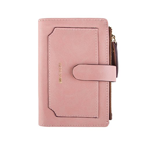 INDRESSME Womens Wallet Candy Color Bifold Mini Vintage Card Holder Wallet (Plenty Bi Fold Wallet)