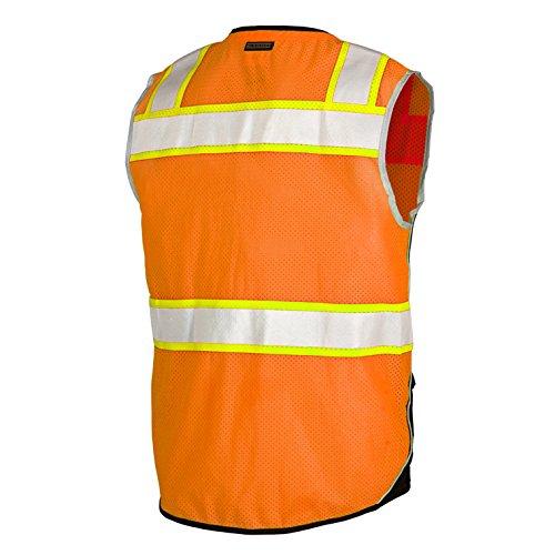 ML Kishigo Class 2 Black Series Vest, Orange, Large by ML Kishigo (Image #2)