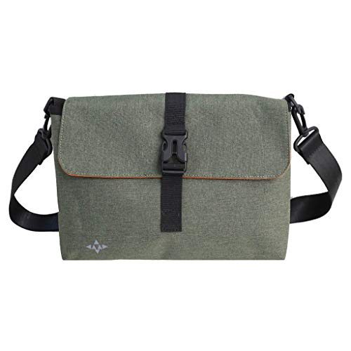 Pengy Unisex Leisure Shopping Bag Travel Canvas Shoulder Lunch Bag Inclined Bag Ladies Multi Pocket Crossbody Bag