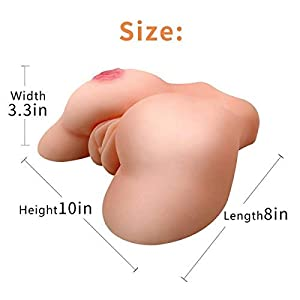 Yaniscool Fleshlike 3D Silicone Doll Toys for Men'Joy