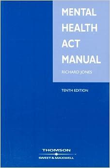 Book Mental Health Act Manual