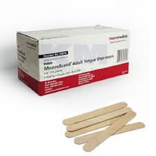 Moore Medical Wood Tongue Depressors Adult Sterile - Box of 100 by MOORE Medical