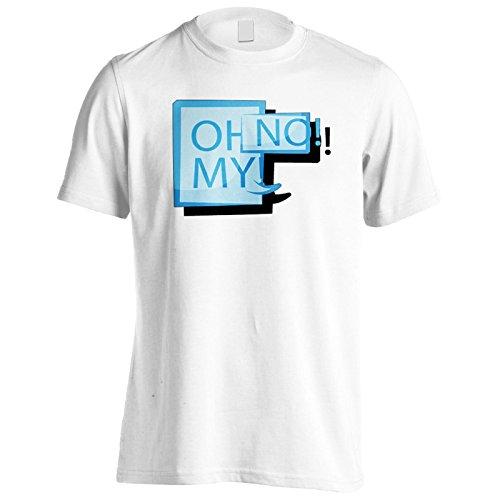 Neues Oh Kein Logo Lustige Kunst Herren T-Shirt m174m