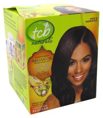 TCB Naturals Olive Oil No Lye Relaxer Kit - Regular (Regular Relaxer)