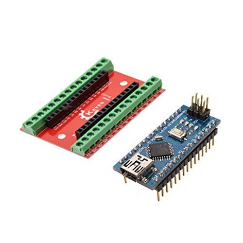 ILS - NANO IO Shield Scheda espansione + Nano V3 versione migliorata Nessun cavo per Arduino