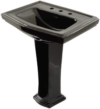 TOTO LPT780.8 51 Clayton Lavatory and Pedestal with 8-Inch Centers, Ebony