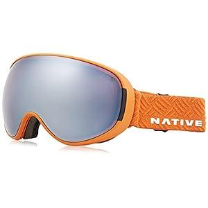 Native Eyewear Sierra Drop Zone Ski-Goggles, Snow Turned Silver Mirror
