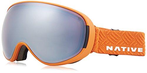 Cheap Native Eyewear Sierra Drop Zone Ski-Goggles, Snow Turned Silver Mirror native ski goggles