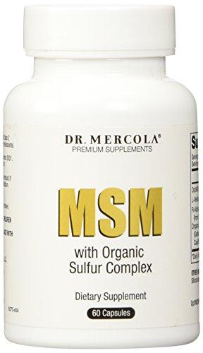 El Dr. Mercola MSM con azufre orgánico complejo - contiene OptiMSM, L-metionina, R-alfa lipoico ácido y azufre orgánico vegetal mezcla - 60 cápsulas