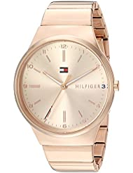 Tommy Hilfiger Womens Sophisticated Sport Quartz and Stainless-Steel Casual Watch, Color:Rose Gold-Toned (Model...