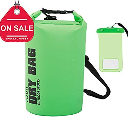 INDDY Dry Bag Waterproof Bag Dry Sack Transparent 10L//20L//30L//40L for Kayaking Beach Boating Fishing Swimming Camping Snowboarding with Waterproof Phone Case