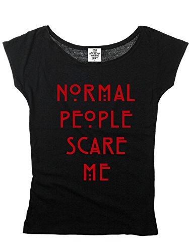 Peur Coton Gens Normal Les Horror Font Shirt En Me Story Noir American pw8Bqw