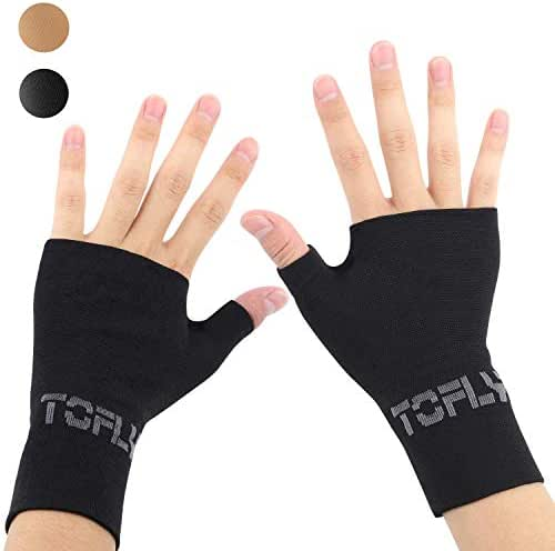 TOFLY Compression Arthritis Gloves, 1 Pair, Thumb & Wrist Support for Men Women, 20-30mmHg Compression Wrist Sleeve for Carpal Tunnel, Wrist Pain & Fatigue, RSI, Tendonitis, Sports, Typing, Daily Use