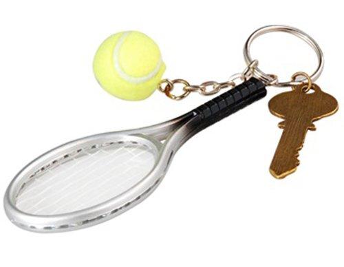 Tennis Racket Chain Silver Green
