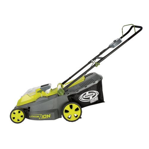 Sun Joe iON16LM 40-Volt 4.0-Amp 16-Inch Brushless Cordless Lawn Mower, Kit (w/4.0-Ah Battery + Quick Charger)
