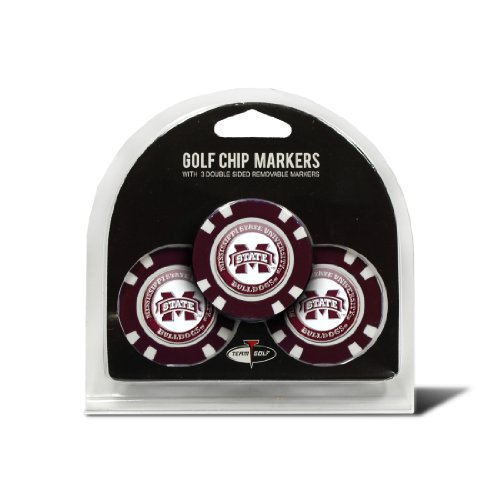 Bulldogs Logo Golf Balls (NCAA Mississippi State Bulldogs 3 Pack Golf Chip Ball Markers)