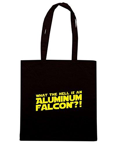 T-Shirtshock - Bolsa para la compra FUN0563 aluminumfalconhood fullpic artwork (2) Negro