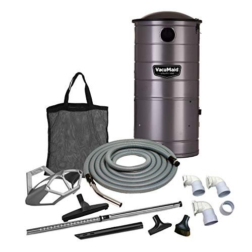 VacuMaid UV150GKP3 Extended Life Professional Wall Mounted Utility Vacuum with 50ft. Garage Kit Pro (Unit and Kit Plus 3 Inlets)