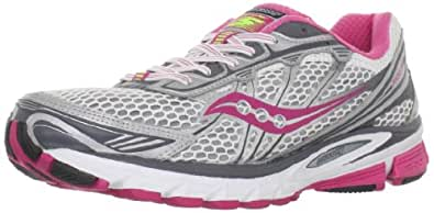 Saucony Women's Progrid Ride 5 Running Shoe,White/Red/Grey,5.5 M US