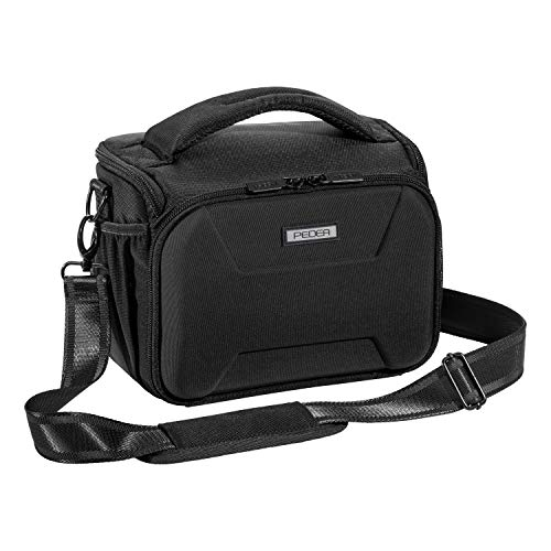 PEDEA DSLR Camera Bag Guard Camera Bag for SLR Cameras with Waterproof rain Cover, Carrying Strap and Accessory compartments, Size XL, Black