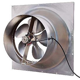 - Solar Powered Attic Fan - 24 Watt Gable Exhaust Vent - Natural Light