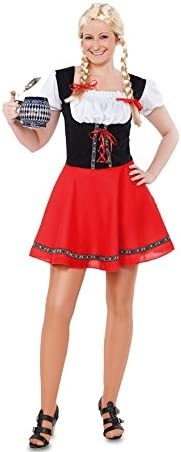 EUROCARNAVALES Disfraz de Tirolesa Roja - Mujer, S: Amazon ...