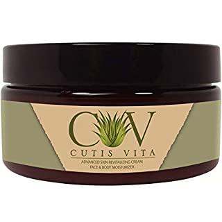 Cutis Vita Skin Care Natural Moisturizing Cream – Aloe Vera Cream for Healing Skin with Aloe Vera and Shea Butter developed for Eczema Rosacea Psoriasis Rashes Redness and Cracked Itchy Skin Relief – Relieve Dry Skin Naturally